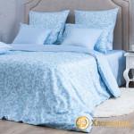 Постельное белье Хлопковый край сатин Мишель Голубая (размер 1,5-спальный)