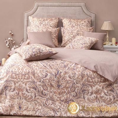 Постельное белье Хлопковый край сатин Монако бежевый (размер 2-спальный)