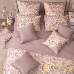 Постельное белье Хлопковый край сатин Монако бежевый (размер 1,5-спальный)