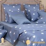 Постельное белье Хлопковый край сатин Монамур деним (размер 1,5-спальный)