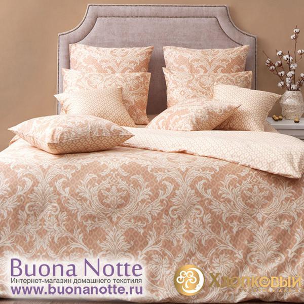Постельное белье Хлопковый край сатин Неаполитано беж (размер 2-спальный)
