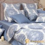 Постельное белье Хлопковый край сатин Одри деним (размер 1,5-спальный)