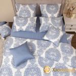 Постельное белье Хлопковый край сатин Одри деним (размер 2-спальный)