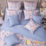 Постельное белье Хлопковый край сатин Окинава грей (размер 1,5-спальный)