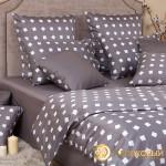 Постельное белье Хлопковый край сатин Тет-а-тет графит (размер 1,5-спальный)