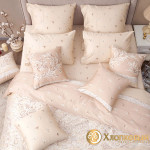 Постельное белье Хлопковый край сатин Верона беж (размер 1,5-спальный)