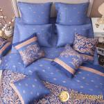 Постельное белье Хлопковый край сатин Верона индиго (размер 2-спальный)
