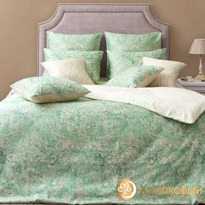 Постельное белье Хлопковый край сатин Версаль фисташка (размер 1,5-спальный)