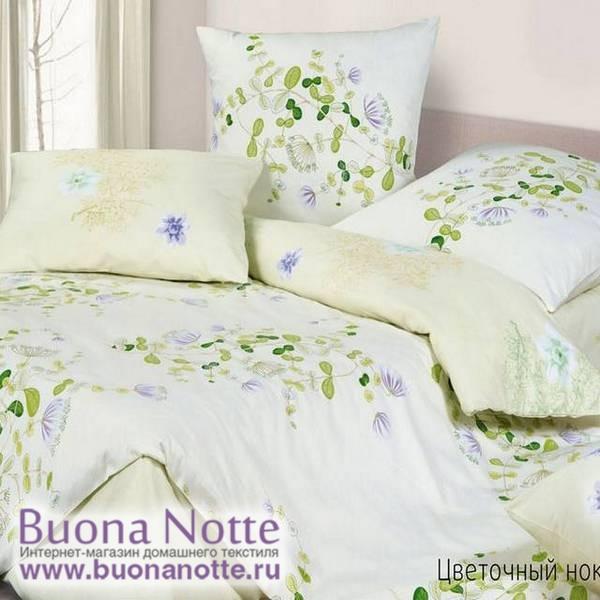 Постельное белье Ecotex Harmonica Цветочный ноктюрн (размер семейный)