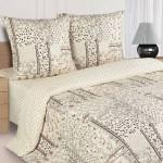 Постельное белье Ecotex Poetica Аквилегия на резинке (размер 2-спальный)