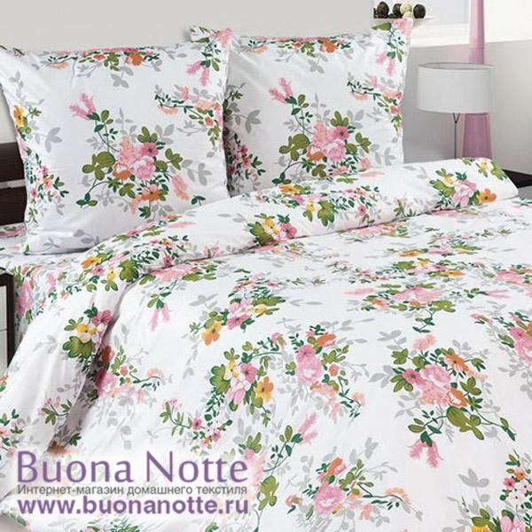 Постельное белье Ecotex Poetica Букет на резинке (размер 2-спальный)