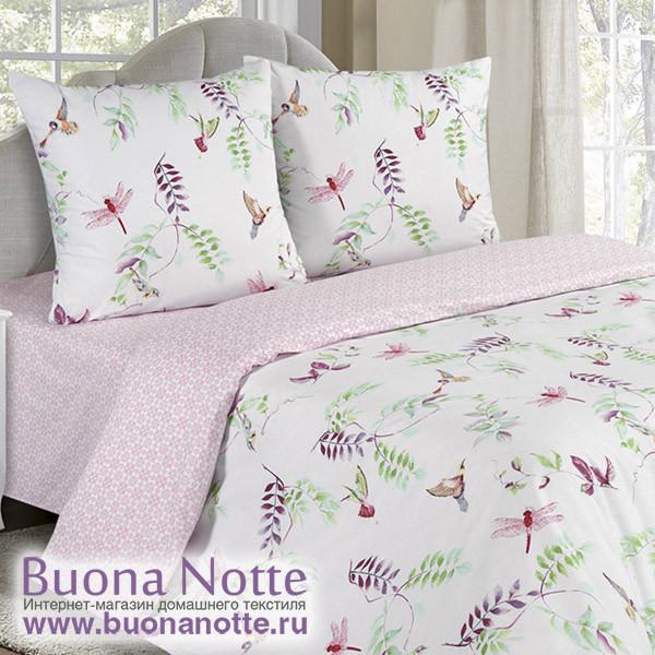 Постельное белье Ecotex Poetica Чио-рио на резинке (размер 2-спальный)