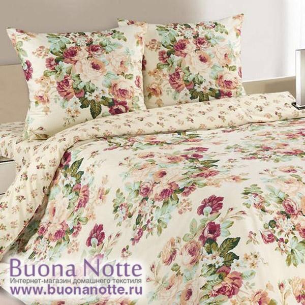 Постельное белье Ecotex Poetica Долина Роз на резинке (размер 2-спальный)