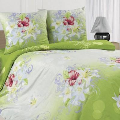 Постельное белье Ecotex Poetica Лилия на резинке (размер 2-спальный)
