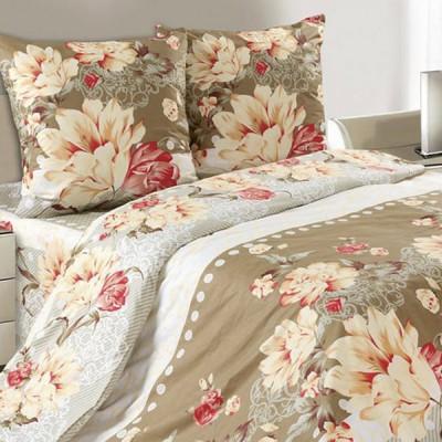 Постельное белье Ecotex Poetica Орлеанская лилия на резинке (размер 2-спальный)