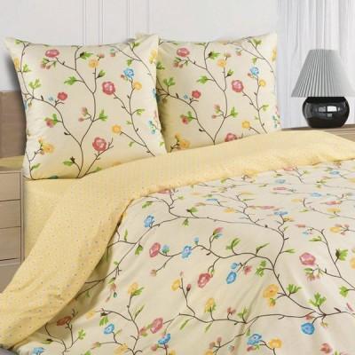 Постельное белье Ecotex Poetica Парижская весна на резинке (размер 2-спальный)