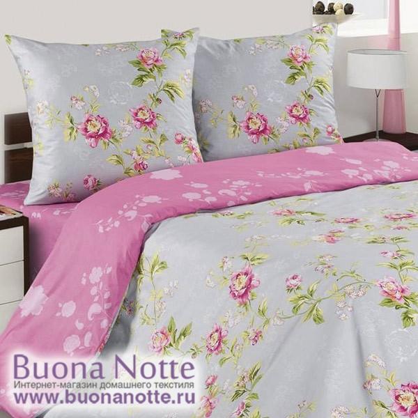Постельное белье Ecotex Poetica Розовый букет на резинке (размер евро)