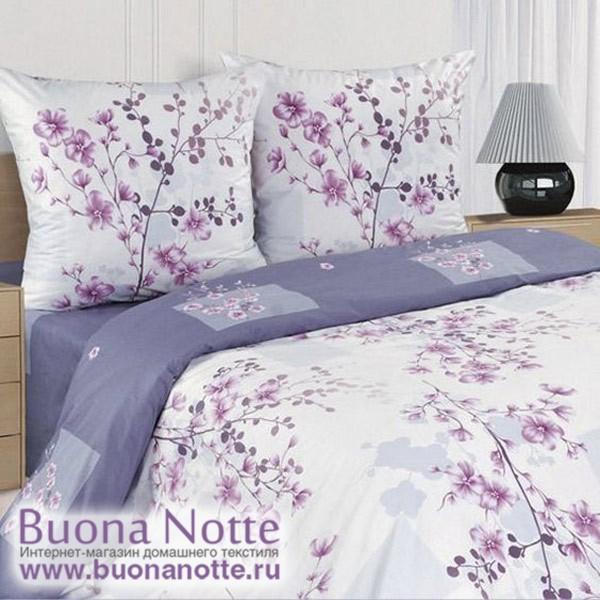 Постельное белье Ecotex Poetica Сакура на резинке (размер 2-спальный)