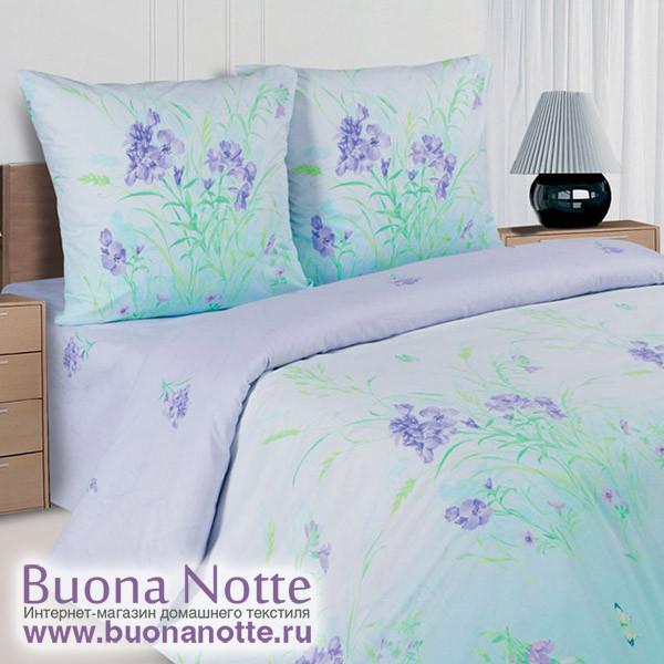 Постельное белье Ecotex Poetica Вереск на резинке (размер 2-спальный)