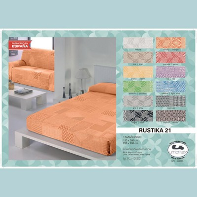 Покрывало-плед Umbritex Rustica21 Orange (230х260 см)