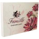 Комплект постельного белья сатин с вышивкой Famille ES-06 (Евро Плюс)