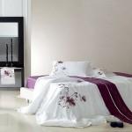 Комплект постельного белья сатин с вышивкой Famille ES-03 (Евро)