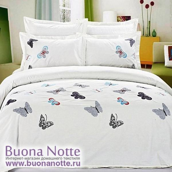 Комплект постельного белья сатин с вышивкой Famille ES-16 (1,5-спальный)