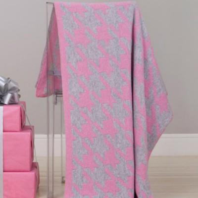 Плед Luxberry Goose Foot розовый/серый (размер 130х170 см)