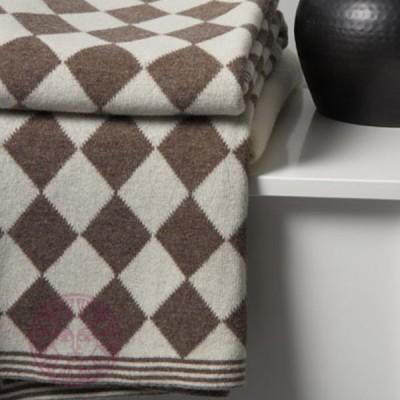 Плед Luxberry Imperio 50 коричневый/экрю (размер 150х200 см)