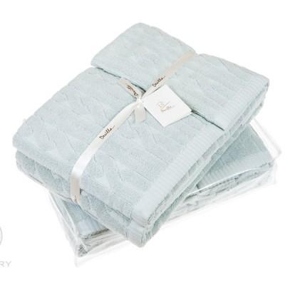 Комплект из 3-х полотенец Devilla Imperio голубая глина (30х50, 50х100, 70х140 см)