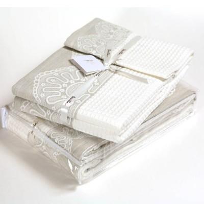 Комплект из 3-х полотенец Luxberry lille белый (30х50, 50х100, 70х140 см)
