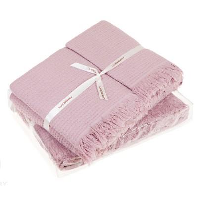 Комплект из 2-х полотенец Luxberry Macaroni розовый (30х50, 50х70 см)