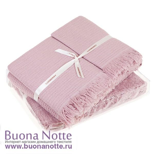 Комплект из 3-х полотенец Luxberry Macaroni розовый (30х50,50х70, 80х140 см)