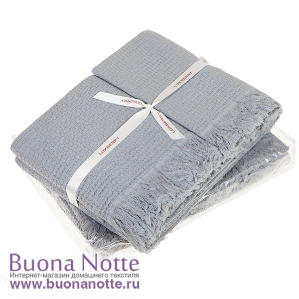 Комплект из 3-х полотенец Luxberry Macaroni светло/серый (30х50, 50х70, 80х140 см)