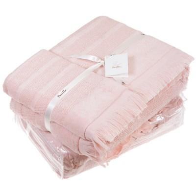 Комплект из 3-х полотенец Mousse персиковый (30х50, 50х100, 70х140 см)