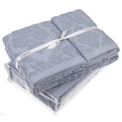 Полотенце Luxberry New England ледяной/синий ( 50х100 см)