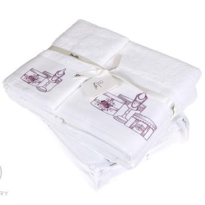 Полотенце Devilla От кутюр белый/розовый (50х100 см)