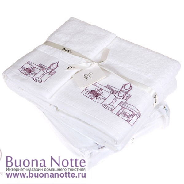 Полотенце Devilla От кутюр белый/розовый (30х50 см)