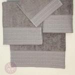 Комплект из 3-х полотенец Devilla Palma табачный (30х50, 50х100, 70х140 см)
