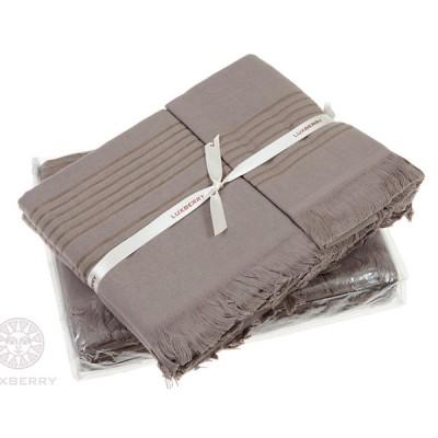 Комплект из 3-х полотенец Luxberry Simple шоколад (30х50, 50х100, 70х140 см)
