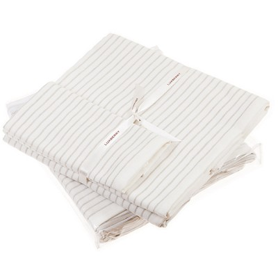 Полотенце Luxberry Spa 5 белый/льняной (100х150 см)