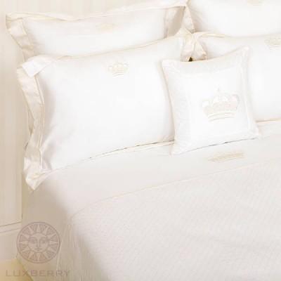 Комплект постельного белья Luxberry Queen белый/бежевый (размер евро)