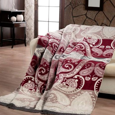 Плед Paters Cotton Бордовая Офелия (размер 150х200 см)